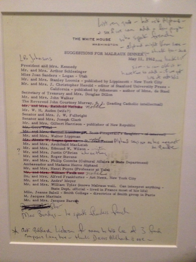 JFK Museum - Dinner Invite List